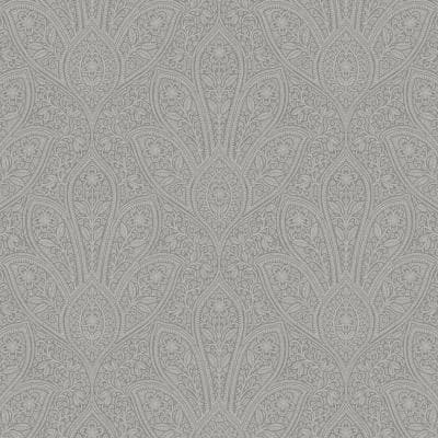 Distressed Paisley Vinyl Roll Wallpaper (Covers 55 sq. ft.)