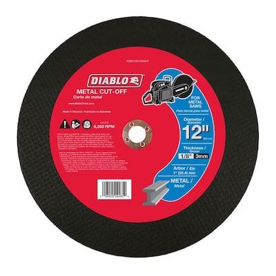 12 in. x 1/8 in. x 1 in. Metal High Speed Cut-Off Disc