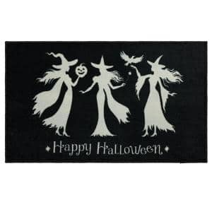 Witch Trio Black 2 ft. x 3 ft. 4 in. Holiday Area Rug