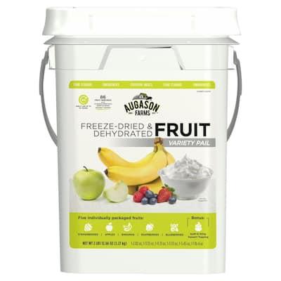 Freeze-Dried Fruit Variety Pail Emergency Food Supply 6 Varieties 4 Gal. Pail 30 Year Shelf Life