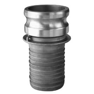 1 in. Part E Aluminum Male Adapter for Lay Flat, Discharge, Backwash and Suction Hoses