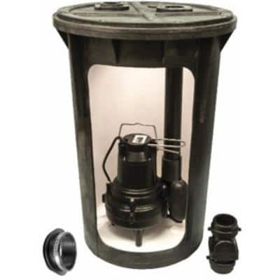 18 in x 30 in. 1/2 HP Submersible Sewage Ejector System