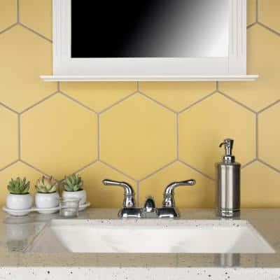 Textile Hex Dandelion 8-5/8 in. x 9-7/8 in. Porcelain Floor and Wall Tile (11.56 sq. ft. / Case)
