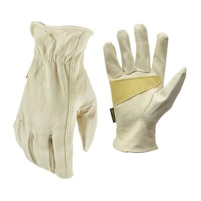X-Large Grain Pigskin Leather Work Gloves
