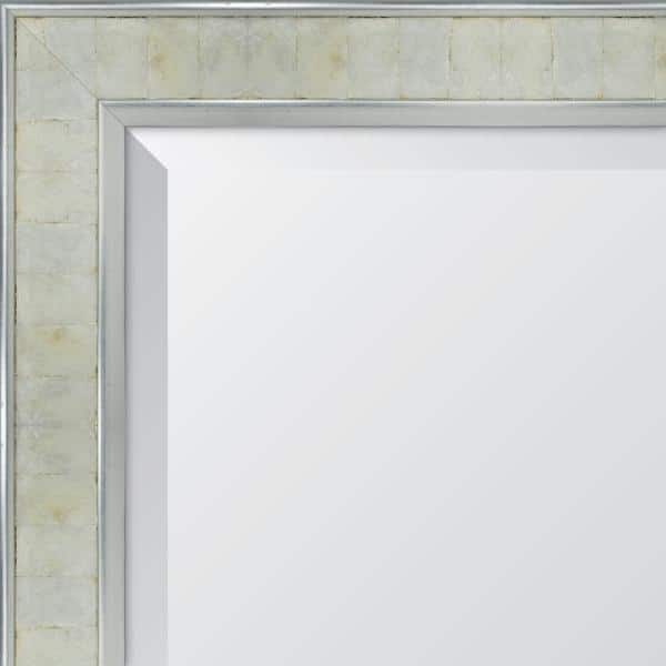Melissa Van Hise Medium Rectangle Silver Pearl Beveled Glass Contemporary Mirror 28 In H X 34 In W Mir3062228 The Home Depot