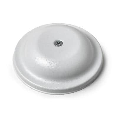 5 in. Plastic Bell Cleanout Cover Plate in White