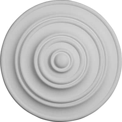 """13-1/4"""" x 1/2"""" Classic Urethane Ceiling Medallion (Fits Canopies upto 4-1/8""""), Primed White"""