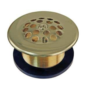 Beehive Strainer Drain in Polished Brass