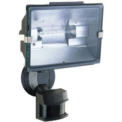 240-Degree 500-Watt Bronze Halogen Motion Sensing Security Light