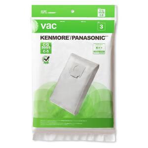 VAC Kenmore/Panasonic Type 5055/C-5 Vacuum Bags (3-Pack)