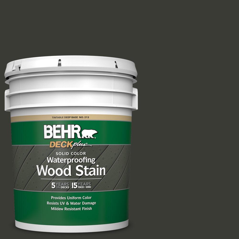 5 gal. #ECC-10-2 Jet Black Solid Color Waterproofing Exterior Wood Stain