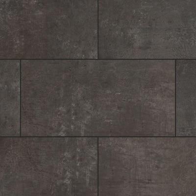 Castle Black Slate 12 in. W x 23.82 in. L Luxury Vinyl Plank Flooring (23.82 sq. ft.)