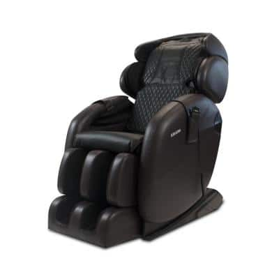 LM6800S Dark Brown Space-Saving Zero Gravity Full-Body Reclining Massage Chair with Bluetooth Speakers