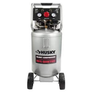 20 Gal. Vertical Electric-Powered Silent Air Compressor