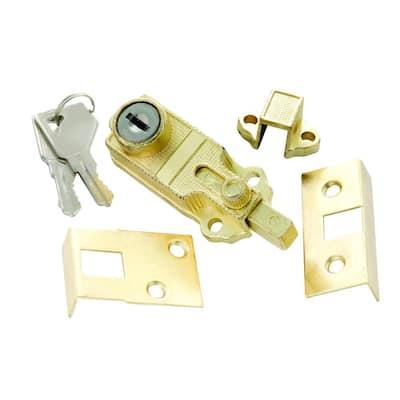 Polished Brass Keyed Cabinet Bolt