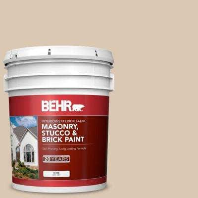 5 gal. #MS-41 Sandstone Beige Satin Interior/Exterior Masonry, Stucco and Brick Paint