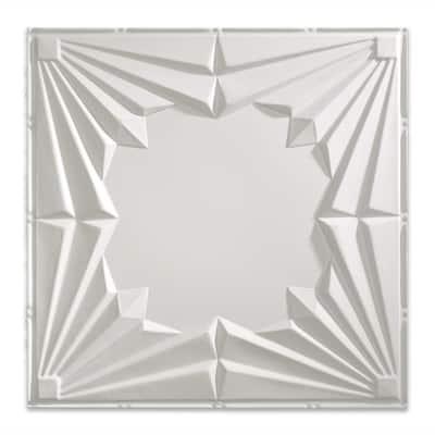 Art Deco 2 ft. x 2 ft. Matte White Lay-In Vinyl Ceiling Tile (20 sq. ft.)
