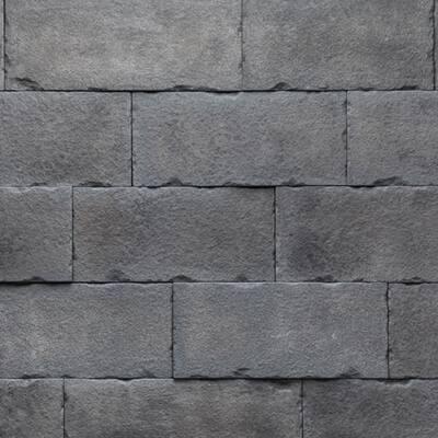 Versetta 36 in. x 8 in. Stone Carved Block Midnight Stone Veneer Corner Panel (6-Bundles per Box)