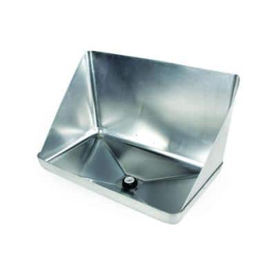 Aluminum Tankless Water Heater Drain Pan with PVC Fitting