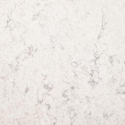 4 in. x 4 in. Quartz Countertop Sample in Mara Blanca