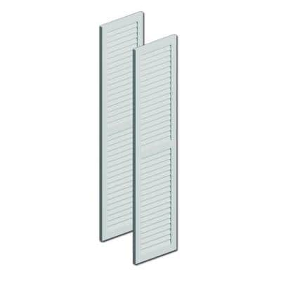 36 in. x 12 in. x 1 in. Polyurethane Louvered Shutters with Center Rail Pair