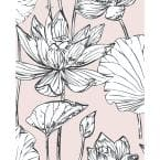 Lotus Pink Floral Vinyl Peel & Stick Wallpaper Roll (Covers 30.75 Sq. Ft.)