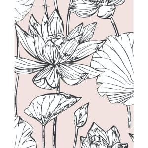 Lotus Pink Floral Vinyl Peel & Stick Wallpaper Roll (Covers 30.75 Sq. Ft.)