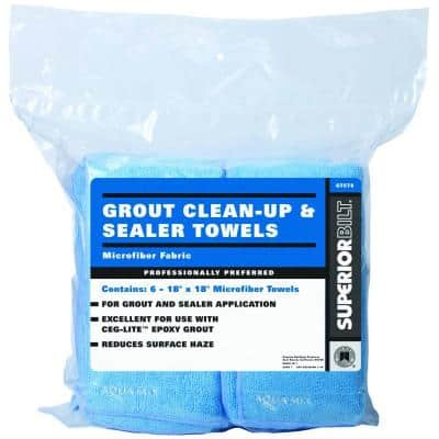 SuperiorBilt 18 in. x 18 in. Microfiber Grout Clean-Up and Sealer Towels (6 Pieces / Bag)