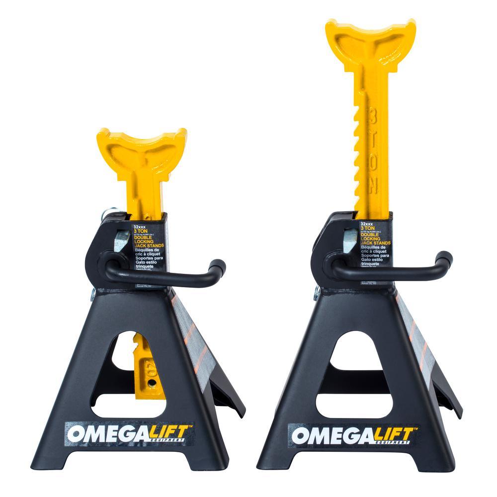 3-Ton Dual Locking Jack Stands (Pair)
