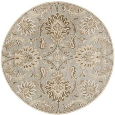 Vitrolles Gray 10 ft. x 10 ft. Round Indoor Area Rug