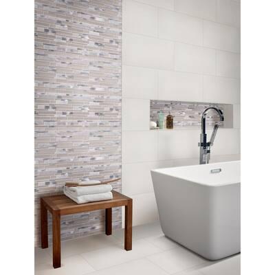 white 12x24 shower porcelain tile