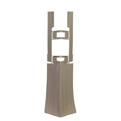 Shake HS - 4.75 in. x 19.25 in. Hand-Split Shake in Weathered Blend - Corner (3.85 lin. ft. per Box) Trim Plastic Siding