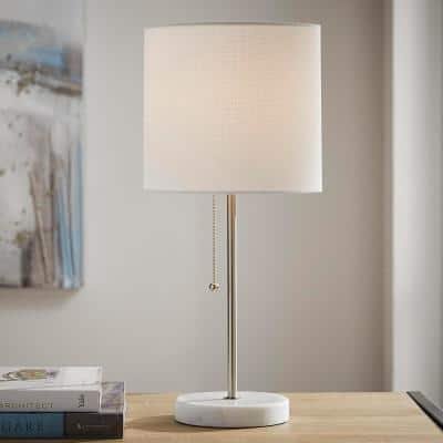 19.25 in. Stick Table Lamp - Brushed Nickel Finish
