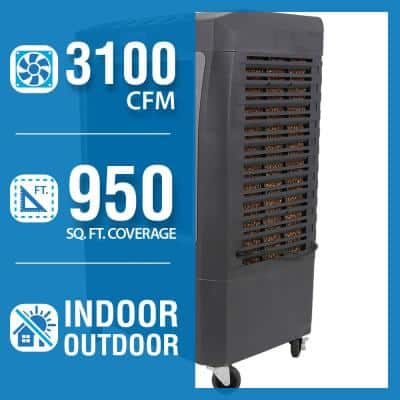 3,100 CFM 3-Speed Portable Evaporative Cooler (Swamp Cooler) for 950 sq. ft.