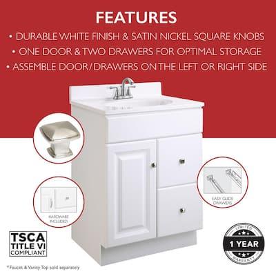 24 Inch Vanities Bathroom Vanities Without Tops Bathroom Vanities The Home Depot