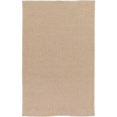 Caswell Taupe 5 ft. x 8 ft. Indoor/Outdoor Area Rug