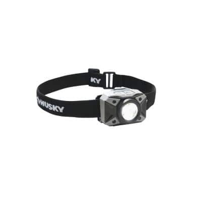 500 Lumen Multi-Setting LED Headlamp Flashlight, Impact and Water Resistant with Batteries