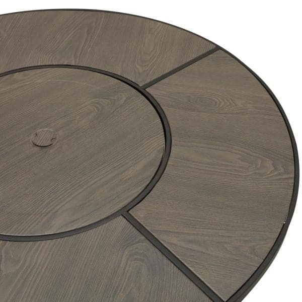 Patio Festival 41 3 In X 27 In Round Metal Propane Fire Pit Table With Lava Stone Pf19901 The Home Depot