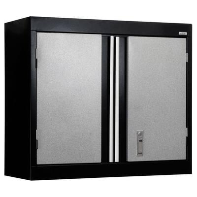 Steel 1-Shelf Wall Mounted Garage Cabinet in Putty (30 in W x 26 in H x 12 in D)