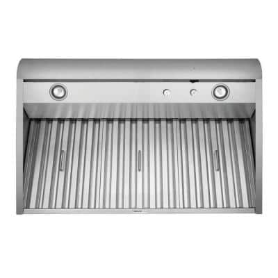 48 in. 1200 CFM Convertible Externally Vented Wall Mount Range Hood with Light in Stainless Steel