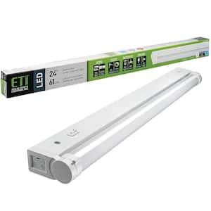 24 in.LinkableLED Beam Adjustable Under Cabinet Strip Light Plug InorDirect Wire 700 Lumens 3000K Dimmable