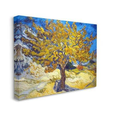"""""""Golden Tree Blue Yellow Van Gogh Classical Painting"""" by Vincent Van Gogh Canvas Wall Art 40 in. x 30 in."""