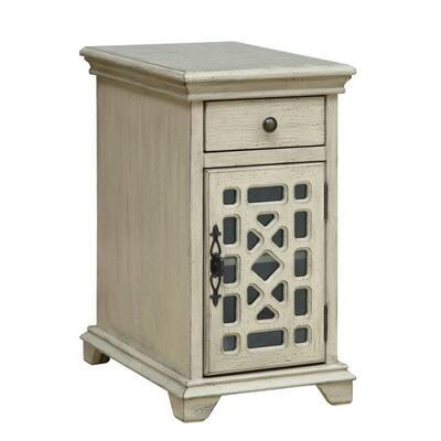 Millstone Texture Ivory 1-Drawer 1-Door Chairside Cabinet