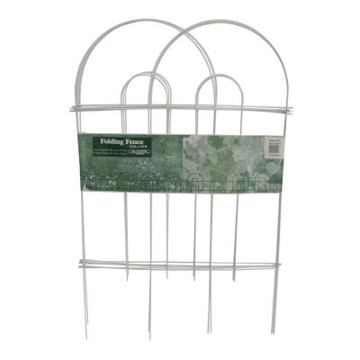 Glamos Wire 32 in. White Garden Folding Fence 50-Pack