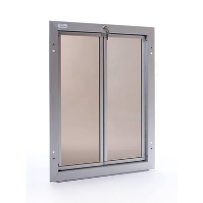 16 in. x 23.75 in. Chew Proof XLarge Silver Wall Mount Dog Door