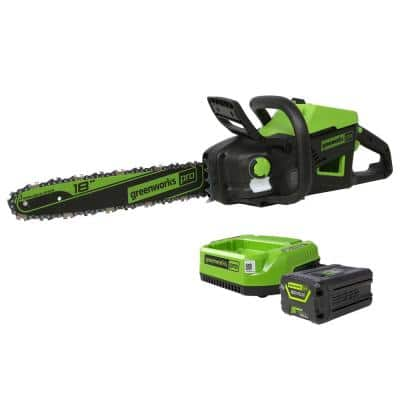 PRO 18 in. 60-Volt Battery Cordless Chainsaw with 4.0 Ah Battery and Charger