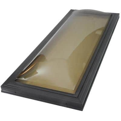 22-1/2 in. x 46-1/2 in. Miami-Dade Impact Fixed Curb Mount Polycarbonate Skylight