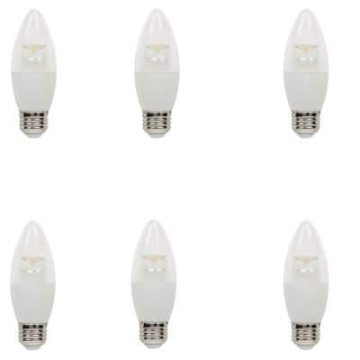 60W Equivalent Soft White B13 Dimmable LED Light Bulb (6 Pack)