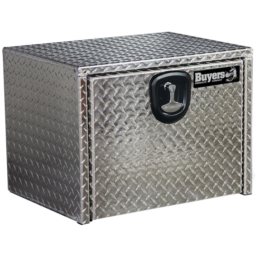 14 in. x 12 in. x 24 in. Diamond Plate Tread Aluminum Underbody Truck Tool Box