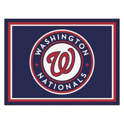 MLB Washington Nationals Navy Blue 8 ft. x 10 ft. Indoor Area Rug